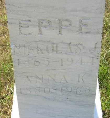 EPPE, NICKOLAS J. - Miner County, South Dakota | NICKOLAS J. EPPE - South Dakota Gravestone Photos