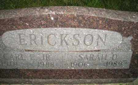 SWEET ERICKSON, SARAH DELLA - Miner County, South Dakota | SARAH DELLA SWEET ERICKSON - South Dakota Gravestone Photos