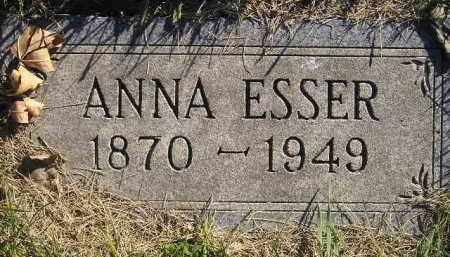 ESSER, ANNA - Miner County, South Dakota | ANNA ESSER - South Dakota Gravestone Photos