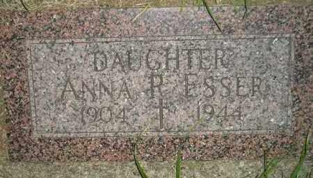 ESSER, ANNA R. - Miner County, South Dakota | ANNA R. ESSER - South Dakota Gravestone Photos