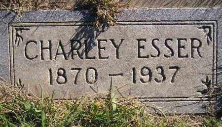 ESSER, CHARLEY - Miner County, South Dakota   CHARLEY ESSER - South Dakota Gravestone Photos