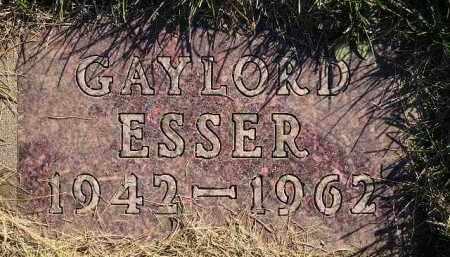 ESSER, GAYLORD - Miner County, South Dakota | GAYLORD ESSER - South Dakota Gravestone Photos