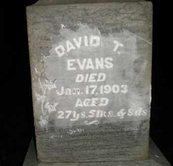 EVANS, DAVID T. - Miner County, South Dakota | DAVID T. EVANS - South Dakota Gravestone Photos