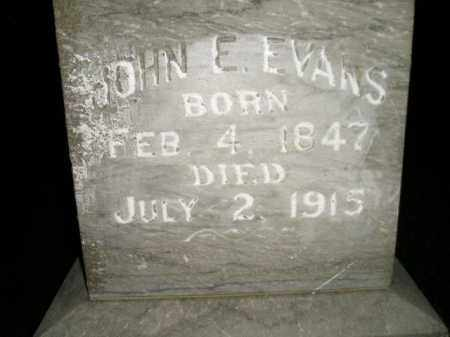 EVANS, JOHN E. - Miner County, South Dakota | JOHN E. EVANS - South Dakota Gravestone Photos