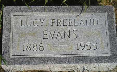 FREELAND EVANS, LUCY - Miner County, South Dakota | LUCY FREELAND EVANS - South Dakota Gravestone Photos