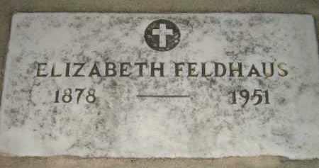 FELLER FELDHAUS, ELIZABETH - Miner County, South Dakota | ELIZABETH FELLER FELDHAUS - South Dakota Gravestone Photos