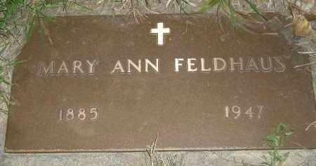 SHEELEY FELDHAUS, MARY ANN - Miner County, South Dakota | MARY ANN SHEELEY FELDHAUS - South Dakota Gravestone Photos