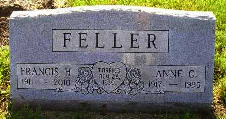 FELLER, ANNE CATHERINE - Miner County, South Dakota   ANNE CATHERINE FELLER - South Dakota Gravestone Photos