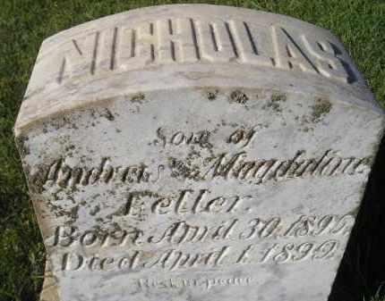 FELLER, NICHOLAS - Miner County, South Dakota   NICHOLAS FELLER - South Dakota Gravestone Photos