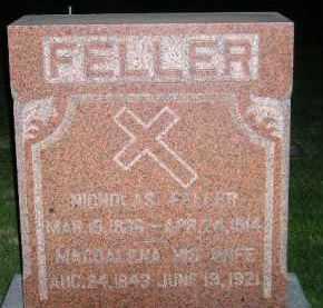 FORRET FELLER, MAGDALENA - Miner County, South Dakota | MAGDALENA FORRET FELLER - South Dakota Gravestone Photos