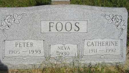 FOOS, CATHERINE - Miner County, South Dakota   CATHERINE FOOS - South Dakota Gravestone Photos