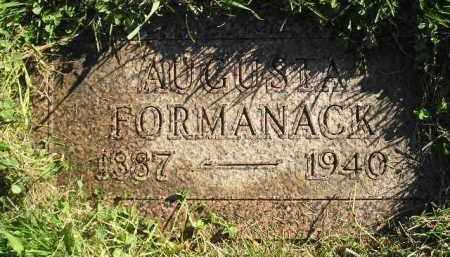 FORMANACK, AUGUSTA - Miner County, South Dakota   AUGUSTA FORMANACK - South Dakota Gravestone Photos