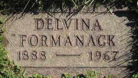 FORMANACK, DELVINA - Miner County, South Dakota   DELVINA FORMANACK - South Dakota Gravestone Photos