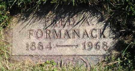 FORMANACK, FRED A. - Miner County, South Dakota | FRED A. FORMANACK - South Dakota Gravestone Photos