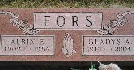 FORS, GLADYS A. - Miner County, South Dakota | GLADYS A. FORS - South Dakota Gravestone Photos