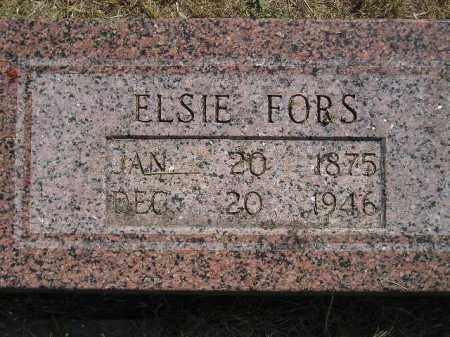 FORS, ELSIE - Miner County, South Dakota | ELSIE FORS - South Dakota Gravestone Photos
