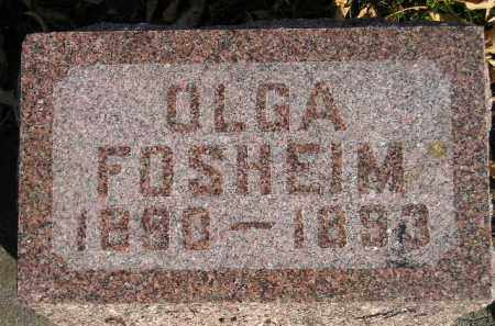 FOSHEIM, OLGA - Miner County, South Dakota | OLGA FOSHEIM - South Dakota Gravestone Photos