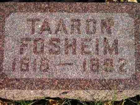 FOSHEIM, TAARON - Miner County, South Dakota | TAARON FOSHEIM - South Dakota Gravestone Photos