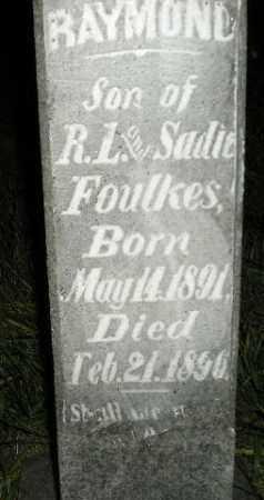 FOULKES, RAYMOND - Miner County, South Dakota   RAYMOND FOULKES - South Dakota Gravestone Photos