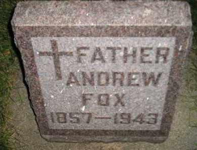 FOX, ANDREW - Miner County, South Dakota   ANDREW FOX - South Dakota Gravestone Photos
