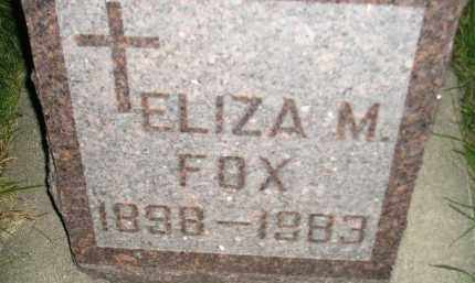 FOX, ELIZA M. - Miner County, South Dakota   ELIZA M. FOX - South Dakota Gravestone Photos