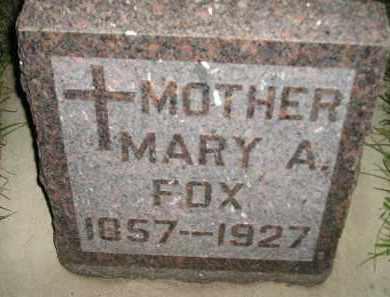 FOX, MARY A. - Miner County, South Dakota | MARY A. FOX - South Dakota Gravestone Photos