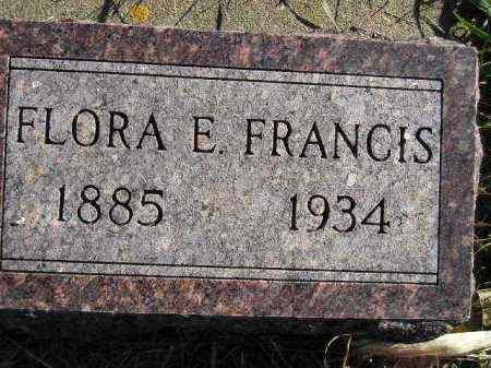FRANCIS, FLORA E. - Miner County, South Dakota | FLORA E. FRANCIS - South Dakota Gravestone Photos