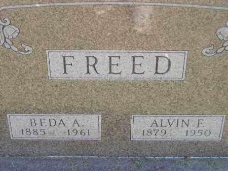 FREED, ALVIN F. - Miner County, South Dakota | ALVIN F. FREED - South Dakota Gravestone Photos