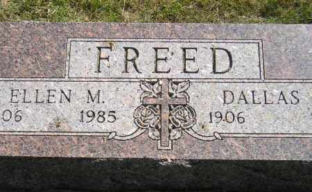 FREED, DALLAS - Miner County, South Dakota | DALLAS FREED - South Dakota Gravestone Photos