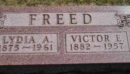 FREED, VICTOR E. - Miner County, South Dakota | VICTOR E. FREED - South Dakota Gravestone Photos