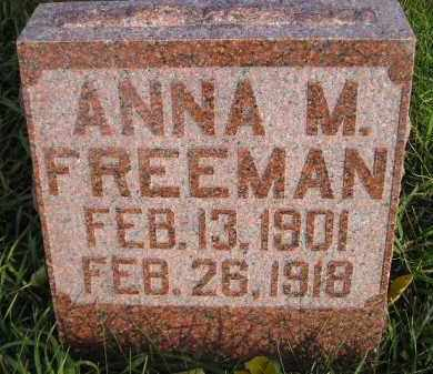 FREEMAN, ANNA M. - Miner County, South Dakota | ANNA M. FREEMAN - South Dakota Gravestone Photos