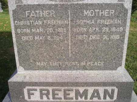 FREEMAN, CHRISTIAN - Miner County, South Dakota | CHRISTIAN FREEMAN - South Dakota Gravestone Photos