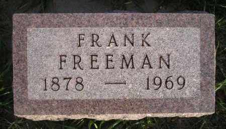FREEMAN, FRANK - Miner County, South Dakota | FRANK FREEMAN - South Dakota Gravestone Photos