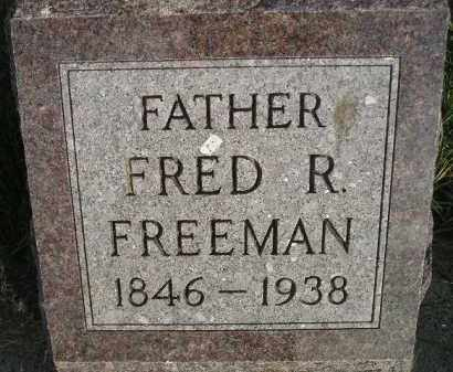 FREEMAN, FRED R. - Miner County, South Dakota | FRED R. FREEMAN - South Dakota Gravestone Photos