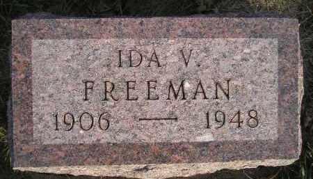 FREEMAN, IDA V. - Miner County, South Dakota | IDA V. FREEMAN - South Dakota Gravestone Photos