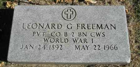 FREEMAN, LEONARD G. (WW I) - Miner County, South Dakota   LEONARD G. (WW I) FREEMAN - South Dakota Gravestone Photos