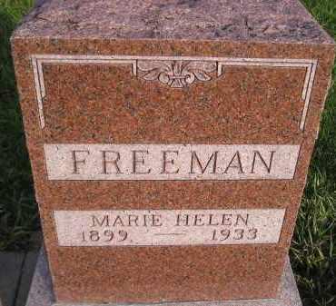 FREEMAN, MARIE HELEN - Miner County, South Dakota | MARIE HELEN FREEMAN - South Dakota Gravestone Photos