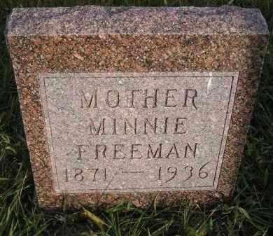 FREEMAN, MINNIE - Miner County, South Dakota | MINNIE FREEMAN - South Dakota Gravestone Photos