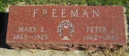FREEMAN, PETER J. - Miner County, South Dakota | PETER J. FREEMAN - South Dakota Gravestone Photos