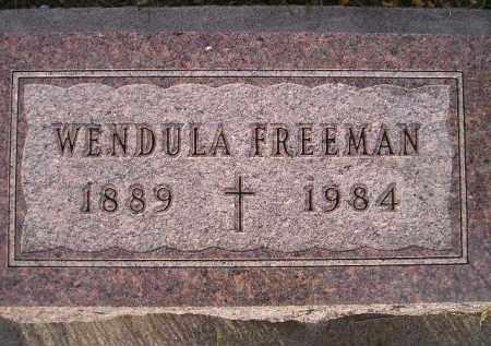 FREEMAN, WENDULA - Miner County, South Dakota | WENDULA FREEMAN - South Dakota Gravestone Photos