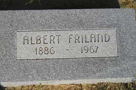 FRILAND, ALBERT - Miner County, South Dakota   ALBERT FRILAND - South Dakota Gravestone Photos