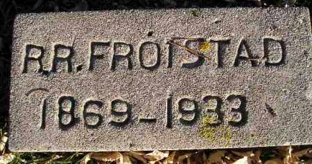 FROISTAD, R.R. - Miner County, South Dakota | R.R. FROISTAD - South Dakota Gravestone Photos
