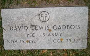 GADBOIS, DAVID LEWIS - Miner County, South Dakota | DAVID LEWIS GADBOIS - South Dakota Gravestone Photos