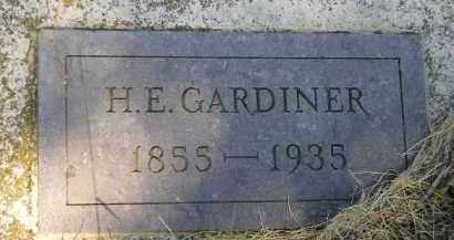 GARDINER, H.E. - Miner County, South Dakota | H.E. GARDINER - South Dakota Gravestone Photos