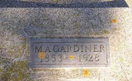 GARDINER, M.A. - Miner County, South Dakota   M.A. GARDINER - South Dakota Gravestone Photos