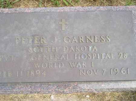 GARNESS, PETER J. - Miner County, South Dakota   PETER J. GARNESS - South Dakota Gravestone Photos