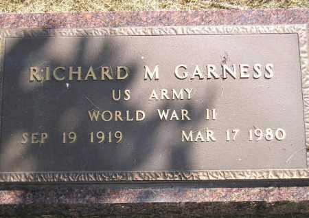 GARNESS, RICHARD M. (WW II) - Miner County, South Dakota | RICHARD M. (WW II) GARNESS - South Dakota Gravestone Photos