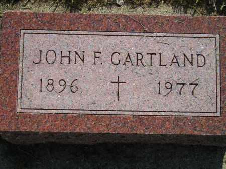 GARTLAND, JOHN F. - Miner County, South Dakota | JOHN F. GARTLAND - South Dakota Gravestone Photos