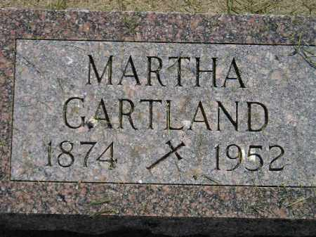 GARTLAND, MARTHA - Miner County, South Dakota | MARTHA GARTLAND - South Dakota Gravestone Photos