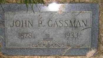 GASSMAN, JOHN P. - Miner County, South Dakota | JOHN P. GASSMAN - South Dakota Gravestone Photos